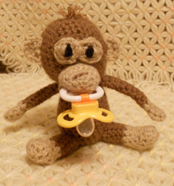 Monkey Pacifier Holder