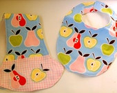 Baby Bib and Burp Cloth - Alexander Henry Apples and Pears