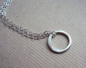 Petite Sterling Silver Karma Open Circle Necklace