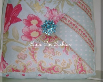 Aqua Square Pin Cushion