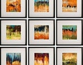 Complete Set of 9 - Richter Series Large 12x12 Prints - Free US Shipping
