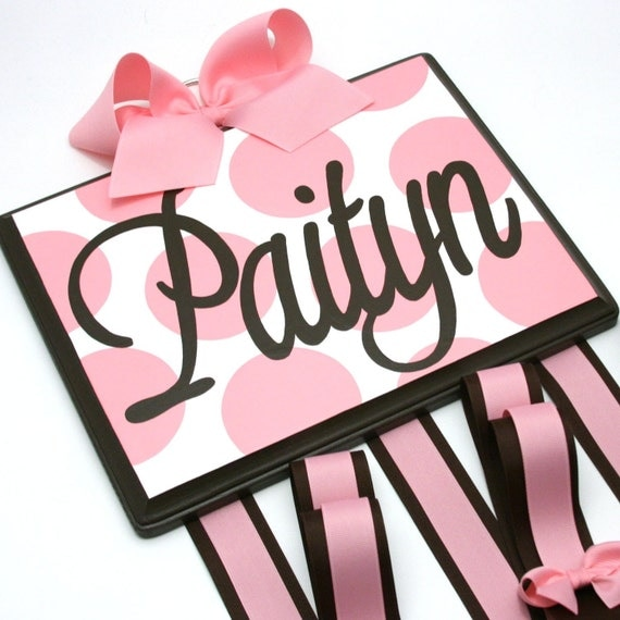 SALE - CUSTOM HANDPAINTED BOUTIQUE CHILDRENS HAIR BOW HOLDER PERSONALIZED - LARGE