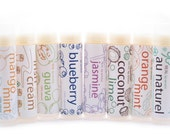 All Natural Lip Balm Trio - Pick 3 from 40 Flavors and Save