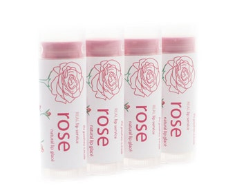 Rose Tinted Lip Glace - Tinted Lip Balm - Lip Tint - Natural