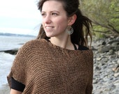 EArTh sHadEs PoNcHo.....  Eco Friendly Fall Fashion Accessorie for women - Bamboo knitting shawl