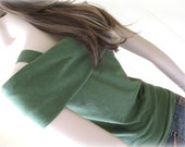 Deep Olive Green Bamboo and Organic Cotton Top Tank