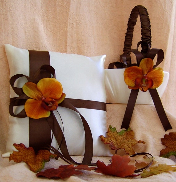 Chocolate Brown And Burnt Orange Wedding Colors By All4Brides