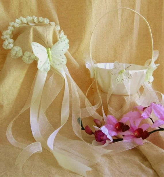 Butterfly Wedding Theme Butterfly Flower Girl Halo And Flower Girl