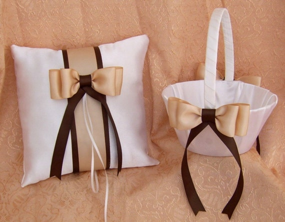 Chocolate Brown And Champagne Wedding Colors Flower Girl