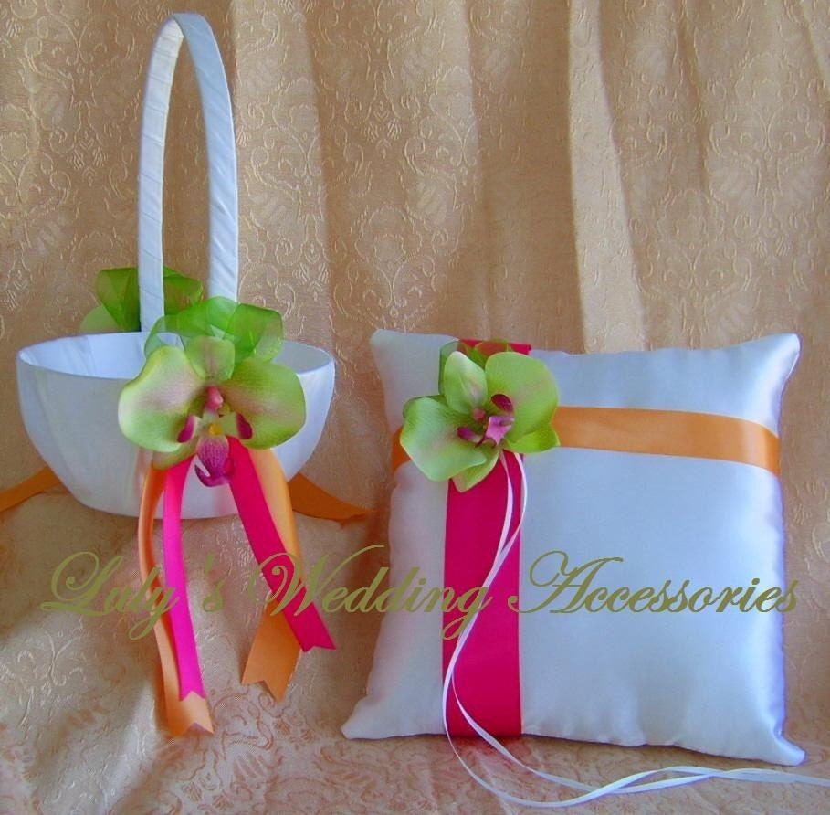 Lime Green Hot Pink And Orange Wedding Colors By All4Brides