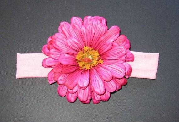 Hot Pink Gerber Daisy Headband