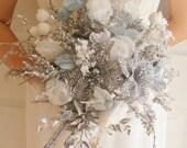 WHITE BRIDE Wedding Bridal  bouquet (large) OOAK