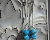 CLEARANCE: turquoise blue earrings