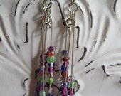 CLEARANCE: colorful dangly earrings