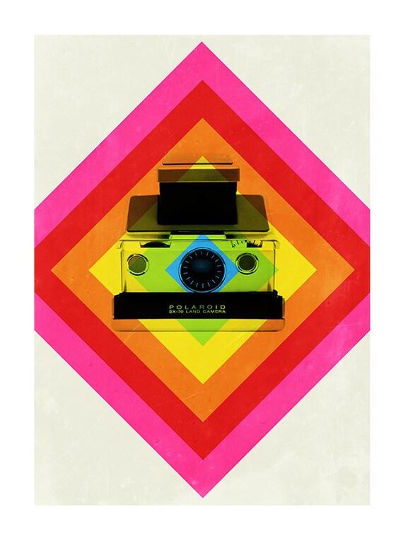 Polaroid camera print - Push It 2 - 50 x 70cm poster - Polaroid SX-70 camera