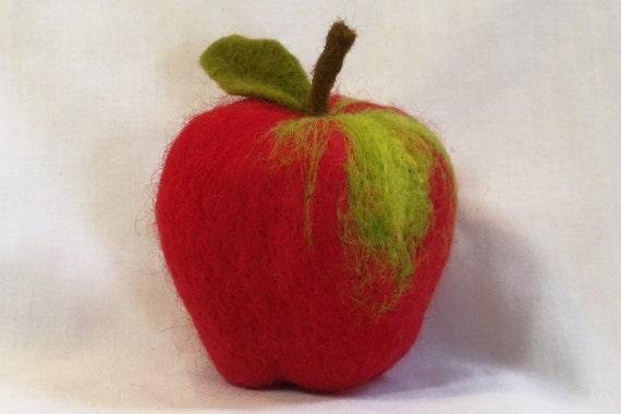 Needle Felted Delicious Apple - Life Size Fruit
