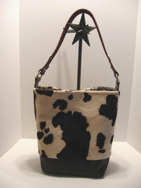 Cowboy Baby Faux Cowhide Western Diaper Bag Tote By