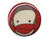 Sock Monkey No. 4 - 1.25 Inch Magnet