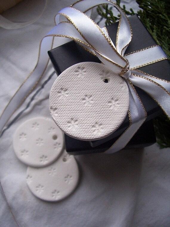 Sweet Daisy Mini Clay Tags - set of 3