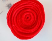 Felt Flower Hair Clip Red