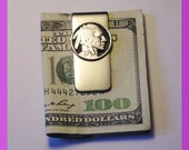 Cut out Buffalo Nickle with rim Money Clip
