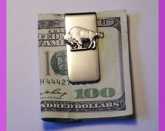 Cut out Buffalo Nickle Money clip
