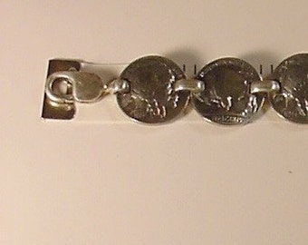 7  Buffalo Nickles  Link Bracelet