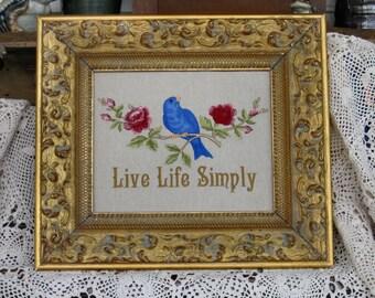 Live Life Simply Bluebird Roses Simplify Streamline Disentangle Rosebuds Peace Tranquility Serenity