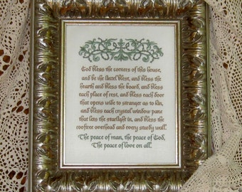Irish House Blessing God Bless Corners Peace Love Bless Corners Hearth Celtic Personalize And Choose Colors  For Border And Last Two Lines