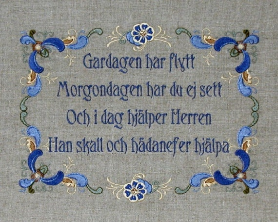 Swedish Blessing By Wiseoldeowl On Etsy