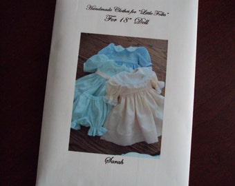 Doll Dress Pattern for American Girl Doll or 18 inch doll