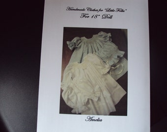 Smocked Doll dress pattern for American Girl Doll or Preemie to Five Pounds