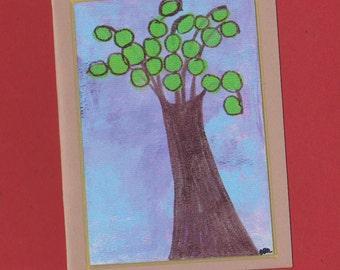 Tree Note Card Invitation Stationery Blank Untitled