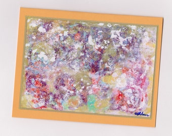 Abstract Art Note Card Invitation Stationery - Spin
