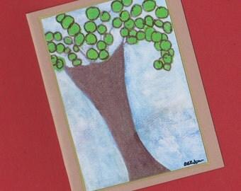 Flourish - Fine Art Tree Blank Note Card Invitation Stationery