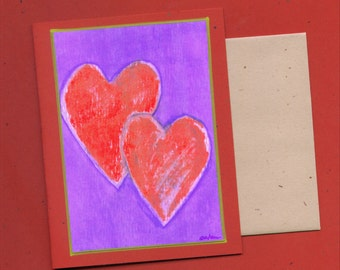 Heart Art Note Card - Tangled Hearts Blank Card