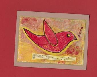 Bird Blank Note Card Invitation Stationery - Song Bird