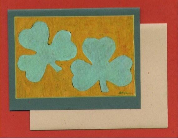 Shamrocks - St Patricks Day Note Card