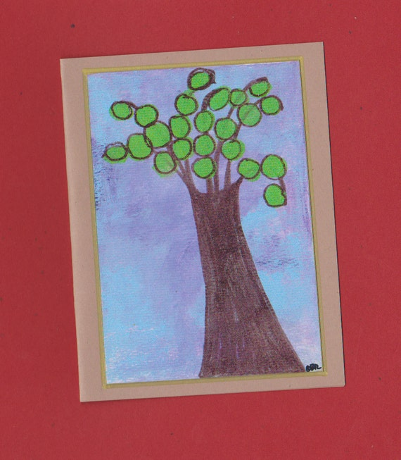 Tree Note Card Invitation Stationery Blank Untitled