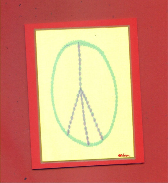 Peace On Earth Holiday Note Card