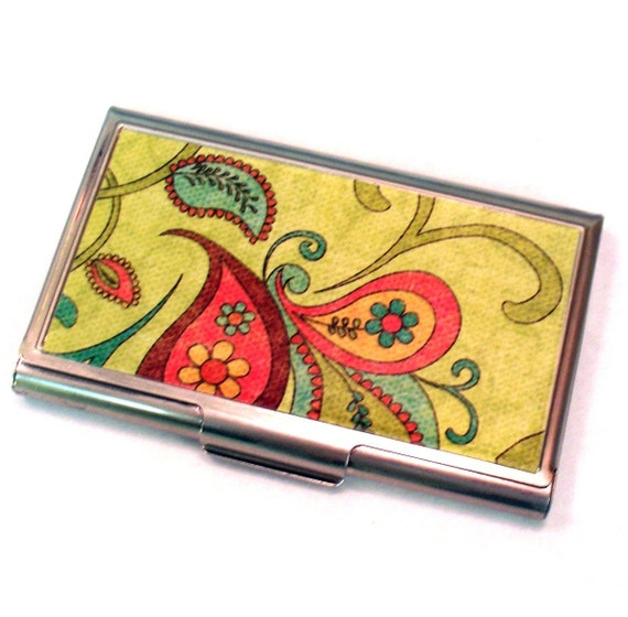 Boho chic business card holder for Chic business card holder