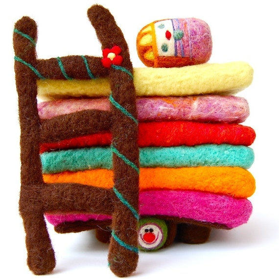 Princess and the Pea Needle Felted WOOLY Play Set