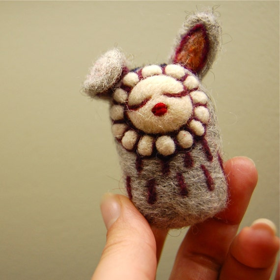 Dreamy Spring Bunny WOOLY OOAK Ready to Ship