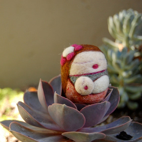 Needle Felted Sleepy Mama and Baby Made to Order
