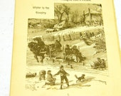 Antique illustration 1891 -  Winter in the Country