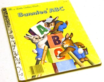 1985 Bunnies' ABC - Little Golden Book Illustrated collectible