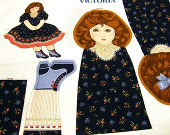 24 inch Victoria Doll Pattern Fabric - NEW