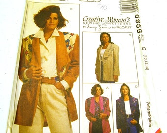 Misses Unlined Jackets - McCall's 6959 (Size 10-12-14) Creative Women's Sewing by Nancy Zieman