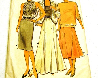 Misses Skirt - Straigh or fitted flared gored (Butterick 4448) Size 12-14-16