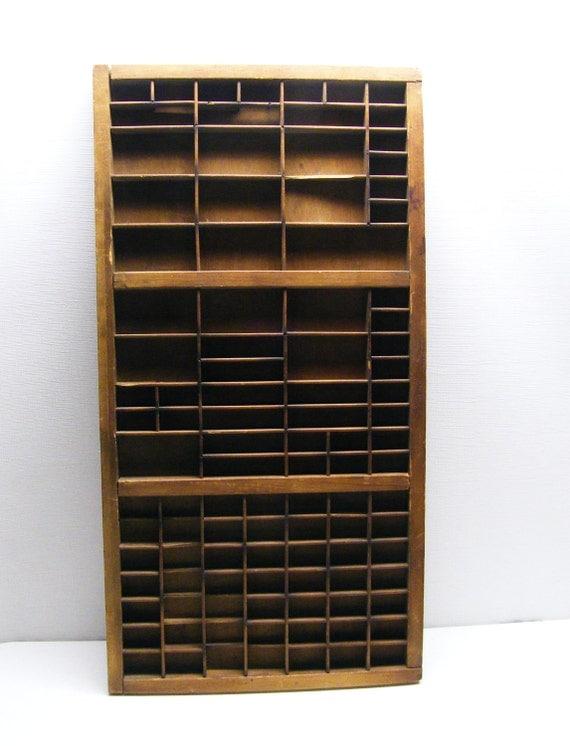 Vintage Display Shelf - Large with dividers (Printer/Typeset Tray)